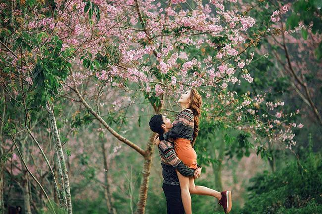 Bí quyết phối đồ đôi khi chụp ảnh cưới Đà Lạt (2)