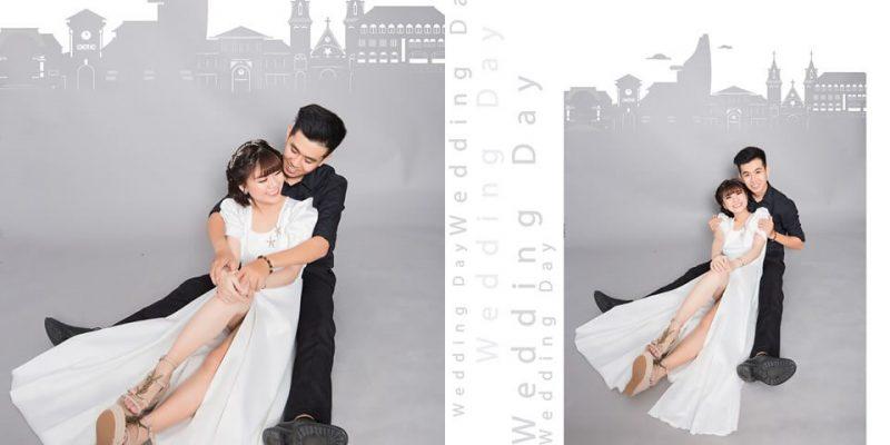 Tạo dáng chụp ảnh cưới trong phòng đơn giản nhưng không đơn điệu (2)
