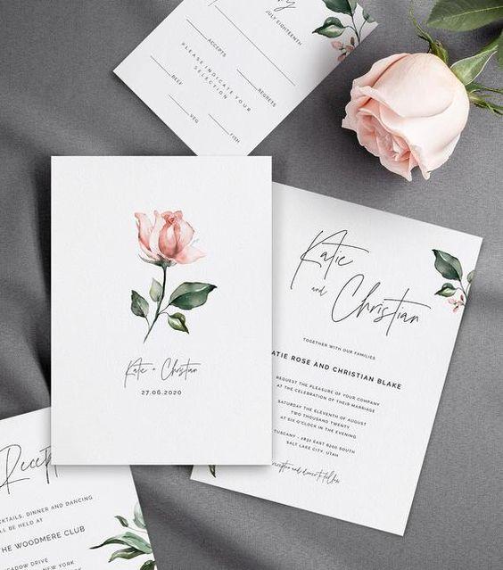 Chia sẻ 6 mẫu thiệp cưới ấn tượng cho ngày chung đôi của bạn (2)